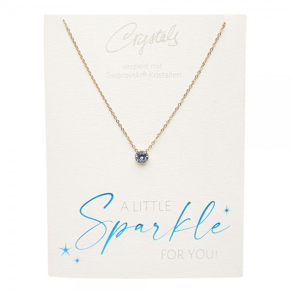 Halskette - Sparkle - vergoldet - Saphir