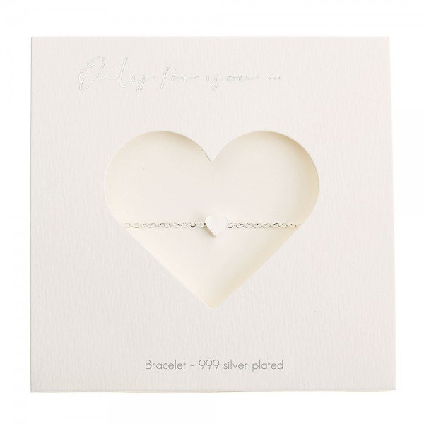 Bracelet - Only For You - Heart - Silver-Plated
