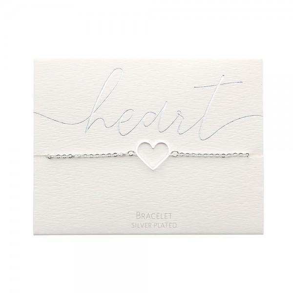Bracelet - Silver-Plated - Heart