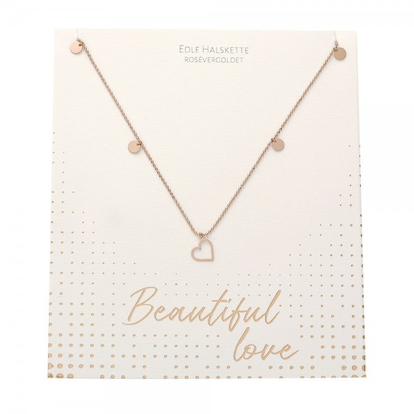 Halskette - Beautiful - Herz - rosévergoldet
