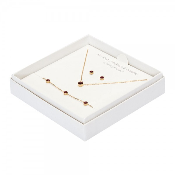 Gift Box - Sparkle - Gold Plated - Ruby