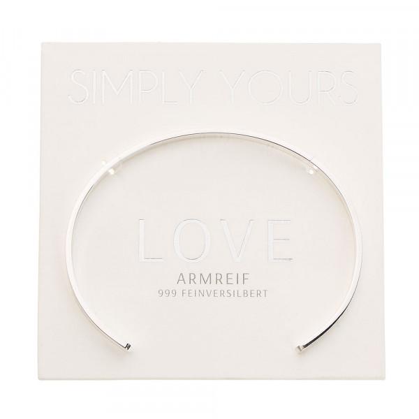 Armreif - Simply yours - feinversilbert - Love