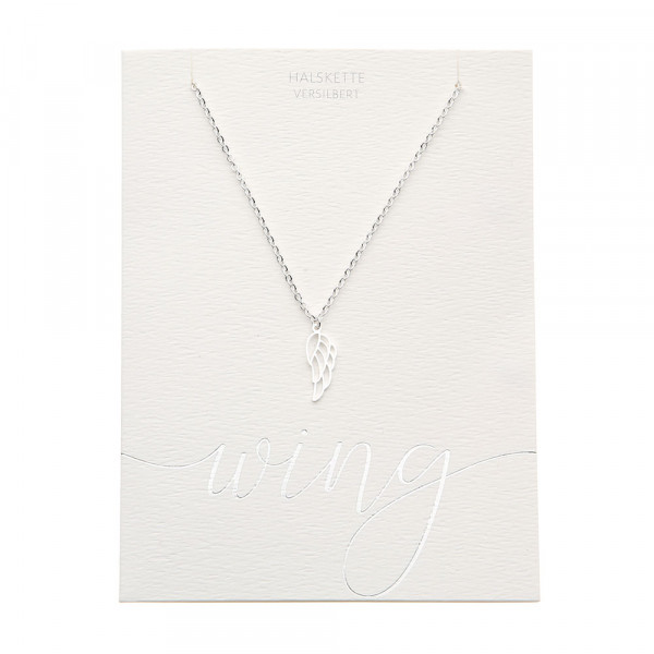 Necklace - Silver Plated - Angel Wing