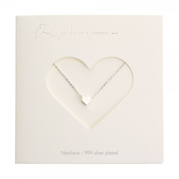 Necklace - Only For You - Heart - Silver-Plated