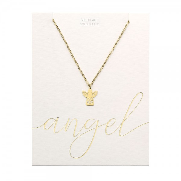 Necklace - Gold-Plated - Angel
