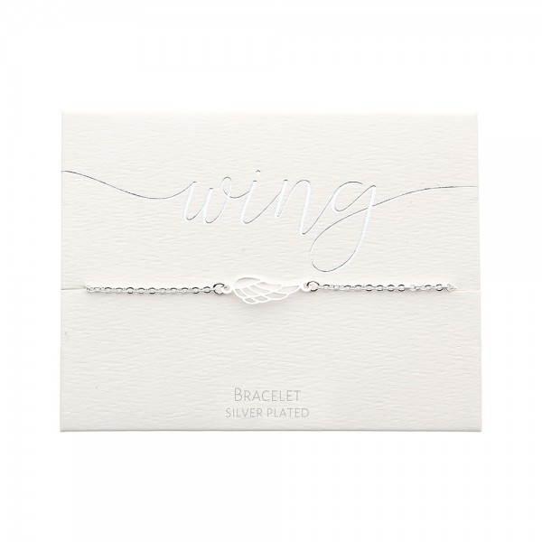 Bracelet - Silver-Plated - Angel Wing