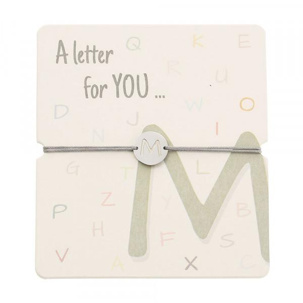 Armband mit Buchstaben - M