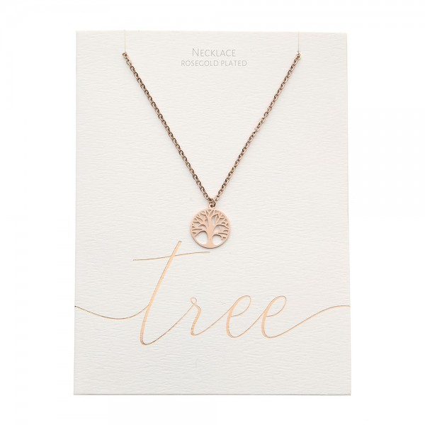 Necklace - Rosegold-Plated - Tree Of Life