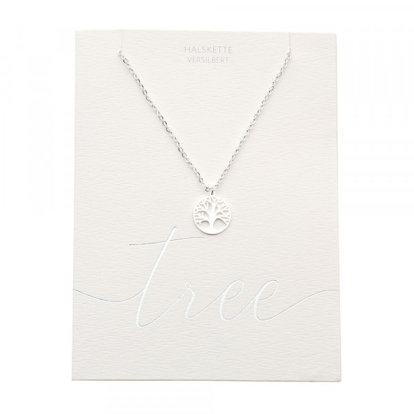 Necklace - Silver Plated - Tree Of Life