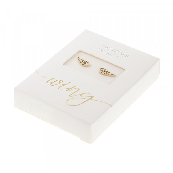 Studs Gold Plated - Angel Wings