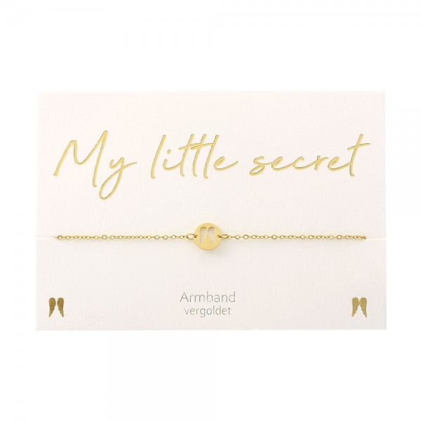 Bracelet - My little secret - Gold Plated- Angel Wings