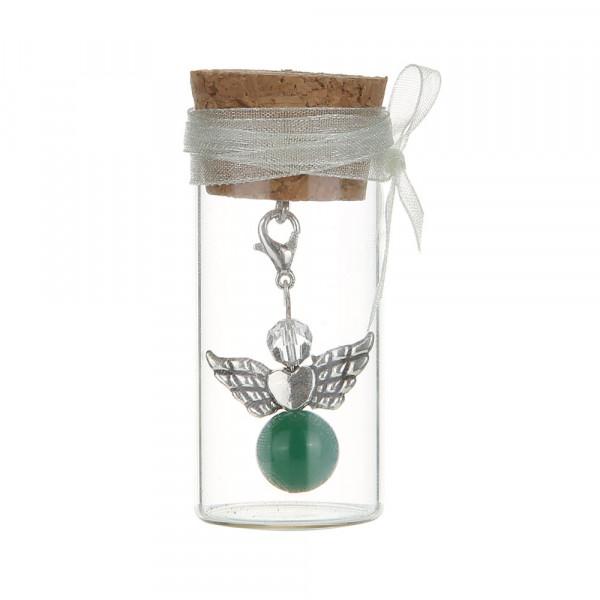Engel im Glas - Grüner Achat