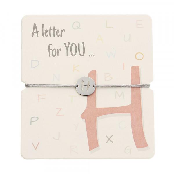 Armband mit Buchstaben - H