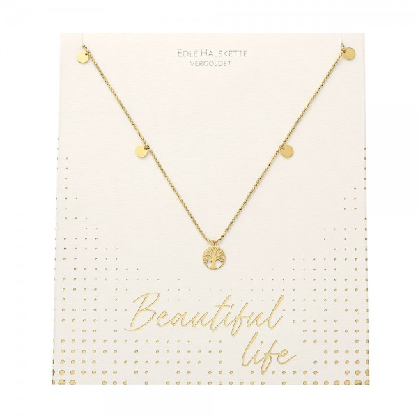 Necklace - Beautiful - Tree Of Life - Gold Plated