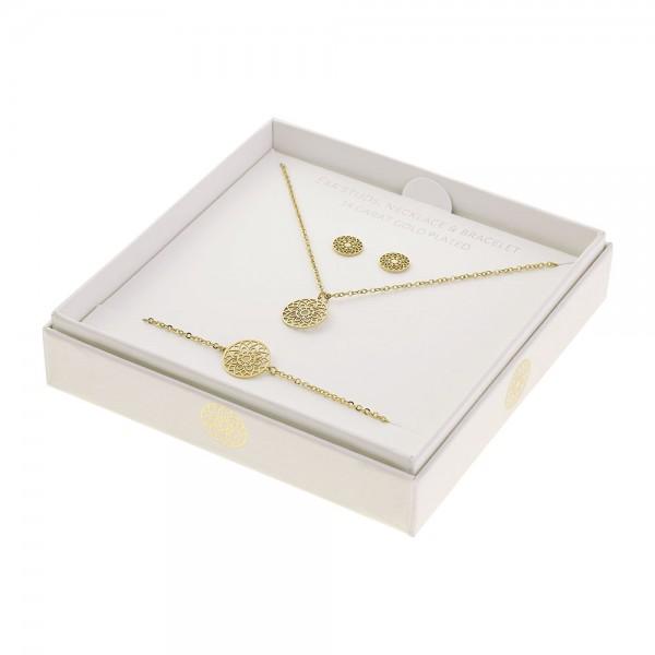 Gift Set Jewellery Gold-Plated - Mandala Of Luck