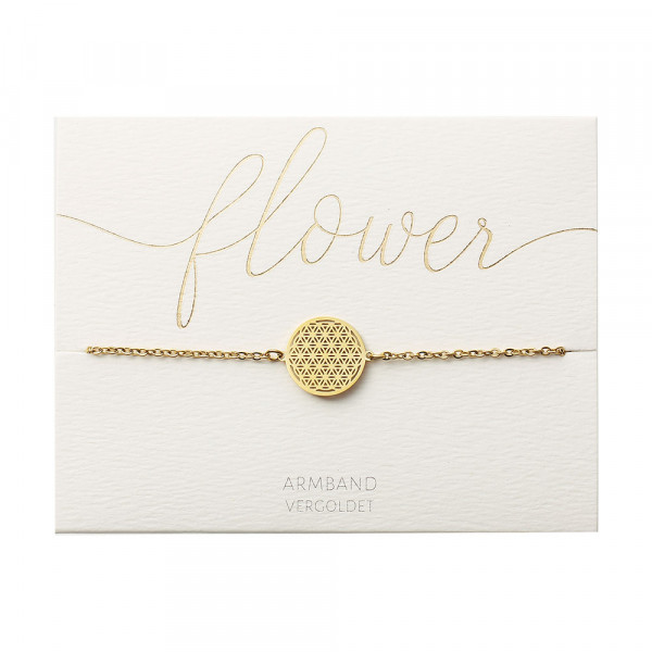 Bracelet - Gold Plated - Flower Of Life