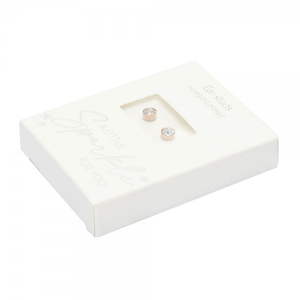 Studs - Sparkle - Rose Gold Plated - Crystal