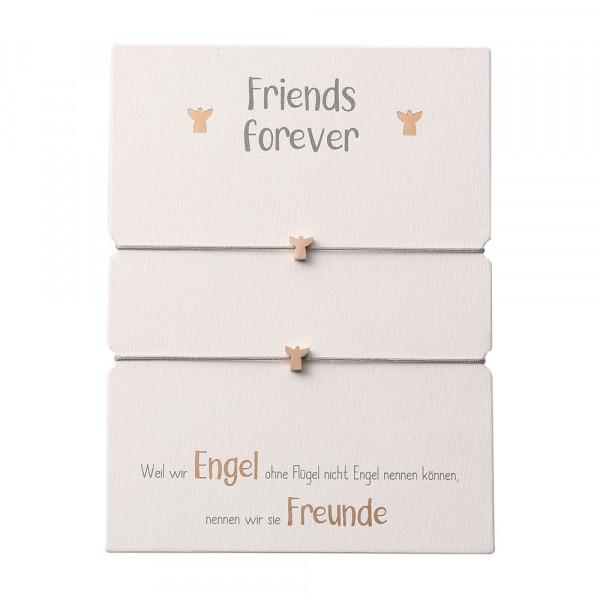 Friendship Bracelet - Guardian Angel Rose Gold Plated
