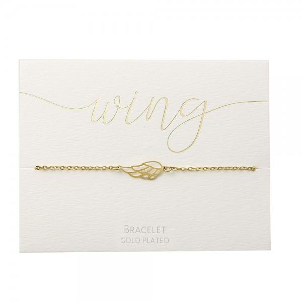 Bracelet - Gold-Plated - Angel Wing