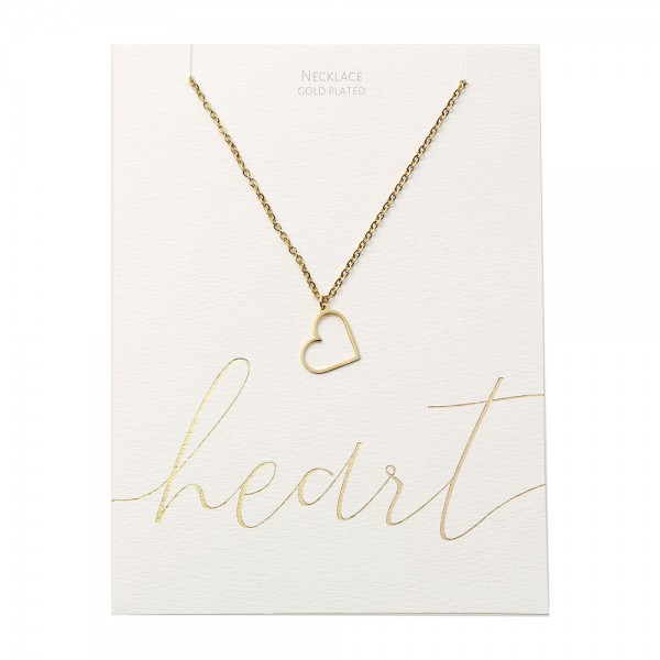 Necklace - Gold-Plated - Heart