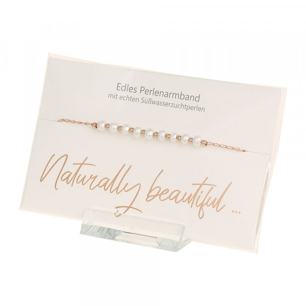 Pearl Bracelet - Naturally Beautiful - Rose-Gold-P
