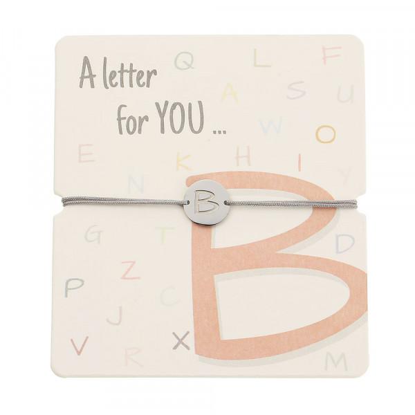 Armband mit Buchstaben - B