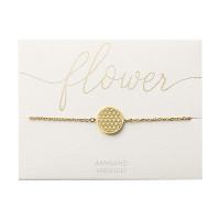 Armband - vergoldet - Blume des Lebens