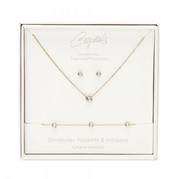 Geschenkbox - Sparkle - vergoldet - Kristall