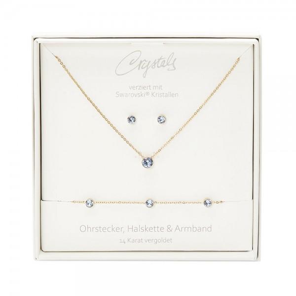 Geschenkbox - Sparkle - vergoldet - Saphir