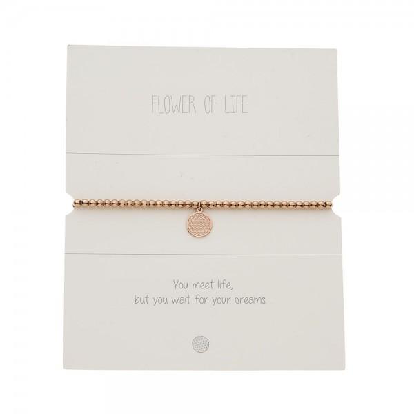 Bracelet With Balls - Rosegold-Plated - Flower Of L