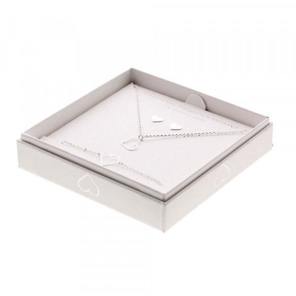 Gift Set - Jewellery - Fine Silver Plated - Heart