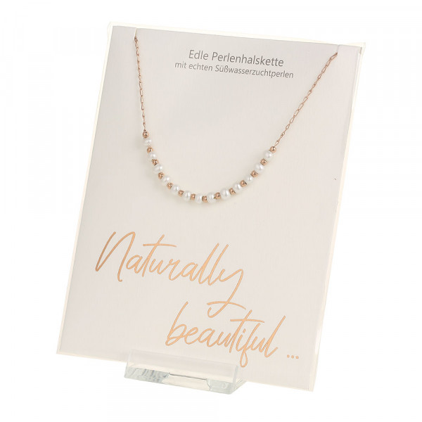 Pearl Necklace - Naturally Beautiful - Rose-Gold-P