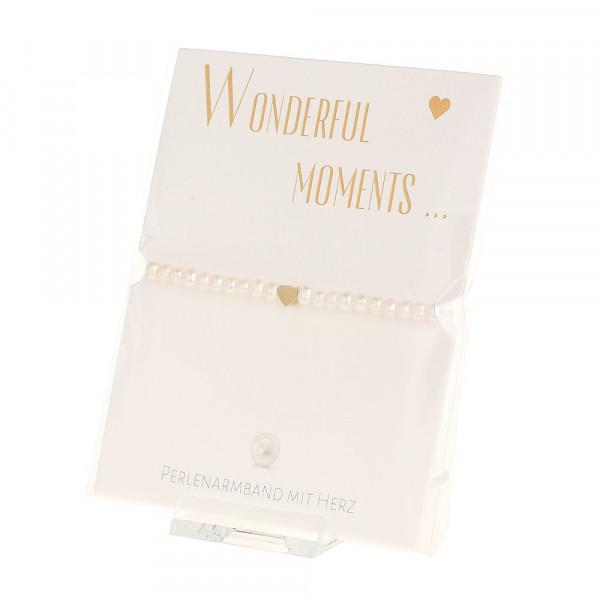 Armband - Wonderful moments - Herz - vergoldet