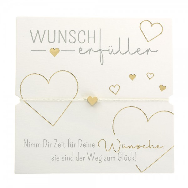 Armband - Wunscherfüller - Herz - vergoldet