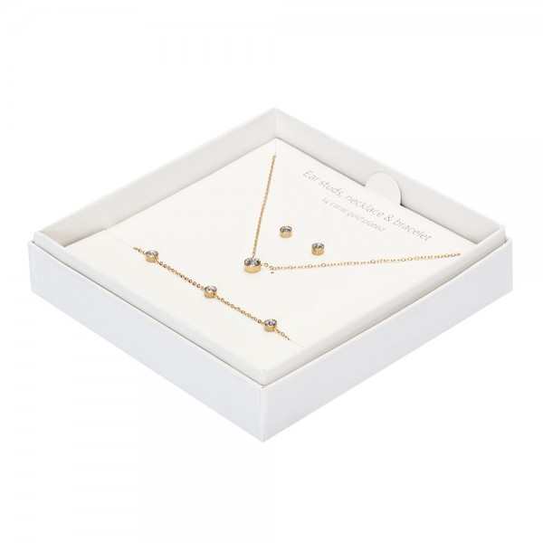 Gift Box - Sparkle - Gold Plated - Crystal
