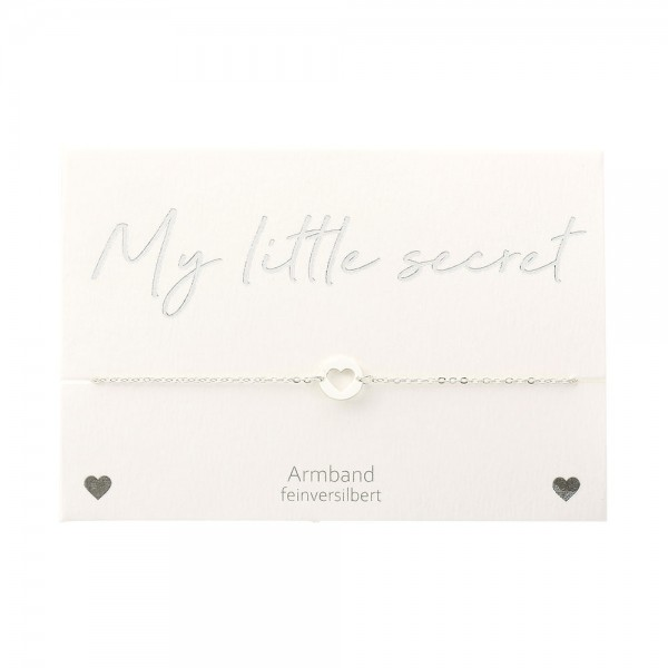 Armband - My little secret - feinversilbert - Herz