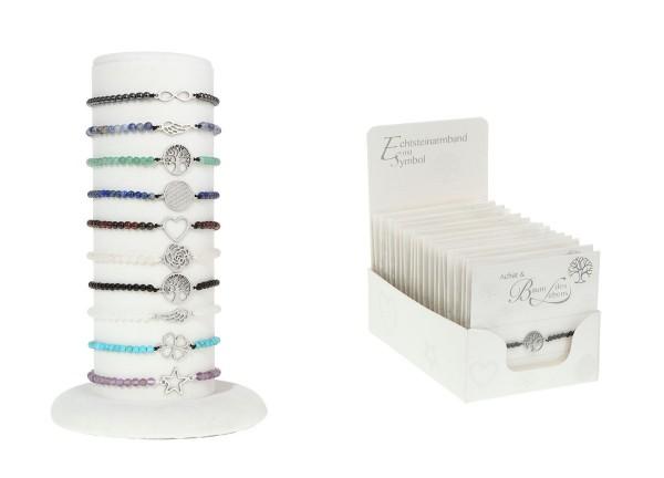 Echtsteinarmbänder & Symbole Display Paket