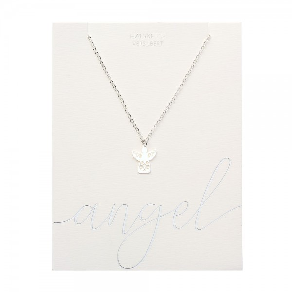 Necklace - Silver Plated - Angel