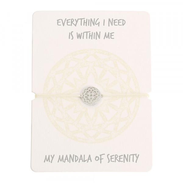 Armband - Mandala der Gelassenheit - Edelstahl