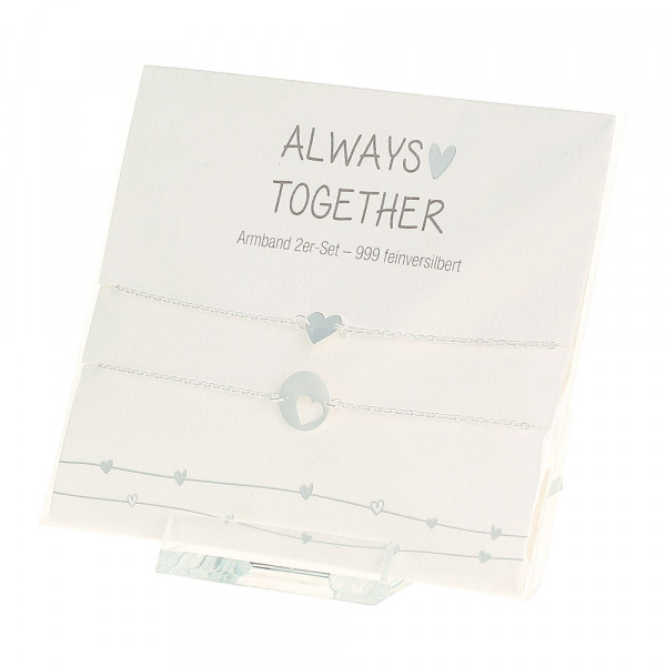 Armband - Always together - feinversilbert