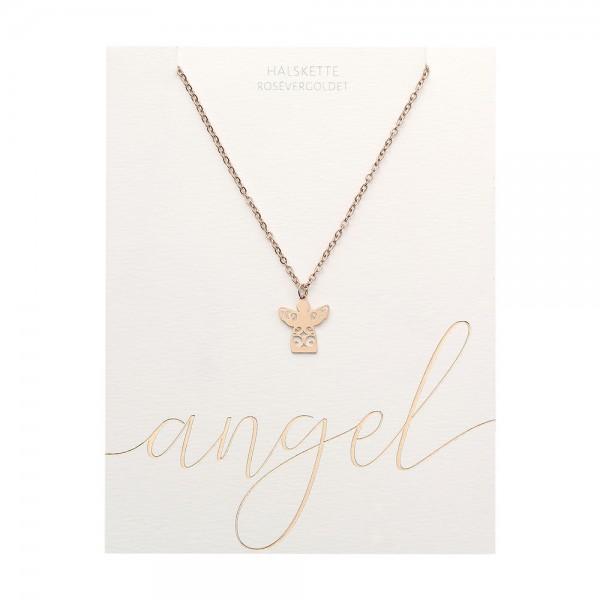 Halskette - rosévergoldet - Schutzengel