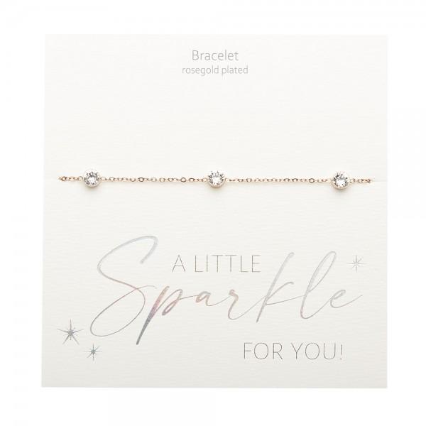 Bracelet - Sparkle - Rose Gold Plated - Crystal