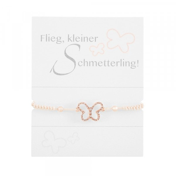 "Geknüpftes Armband ""Schmetterling"""