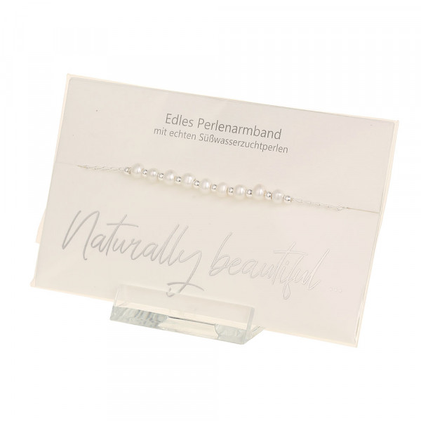 Perlenarmband - Naturally beautiful - feinversilbert