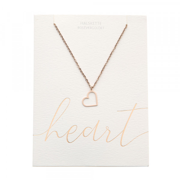 Halskette - rosévergoldet - Herz