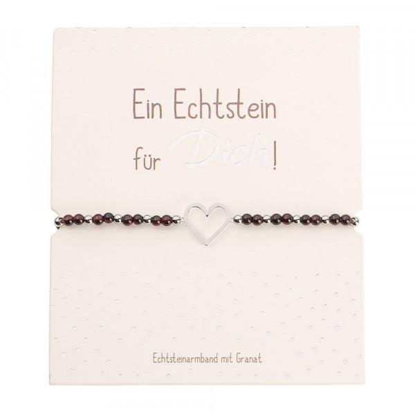 Echtsteinarmband - Granat