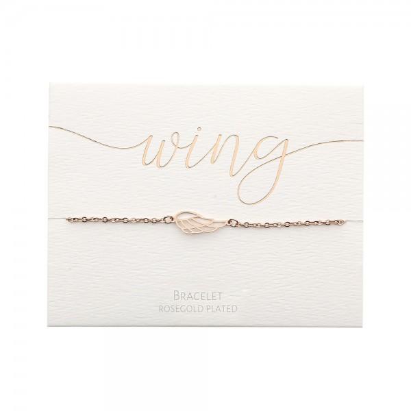 Bracelet - Rosegold-Plated - Angel Wing