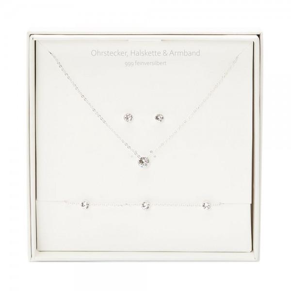 Geschenkbox - Sparkle - feinversilbert - Kristall