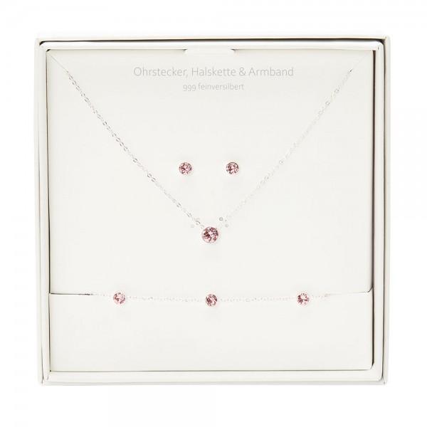 Gift Box - Sparkle - Silver Plated - Rose Quartz