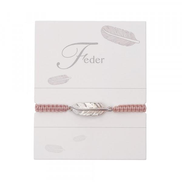 "Geknüpftes Armband ""Feder"""